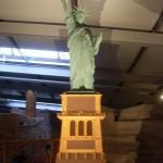 Freiheitsstatue mit Schatten