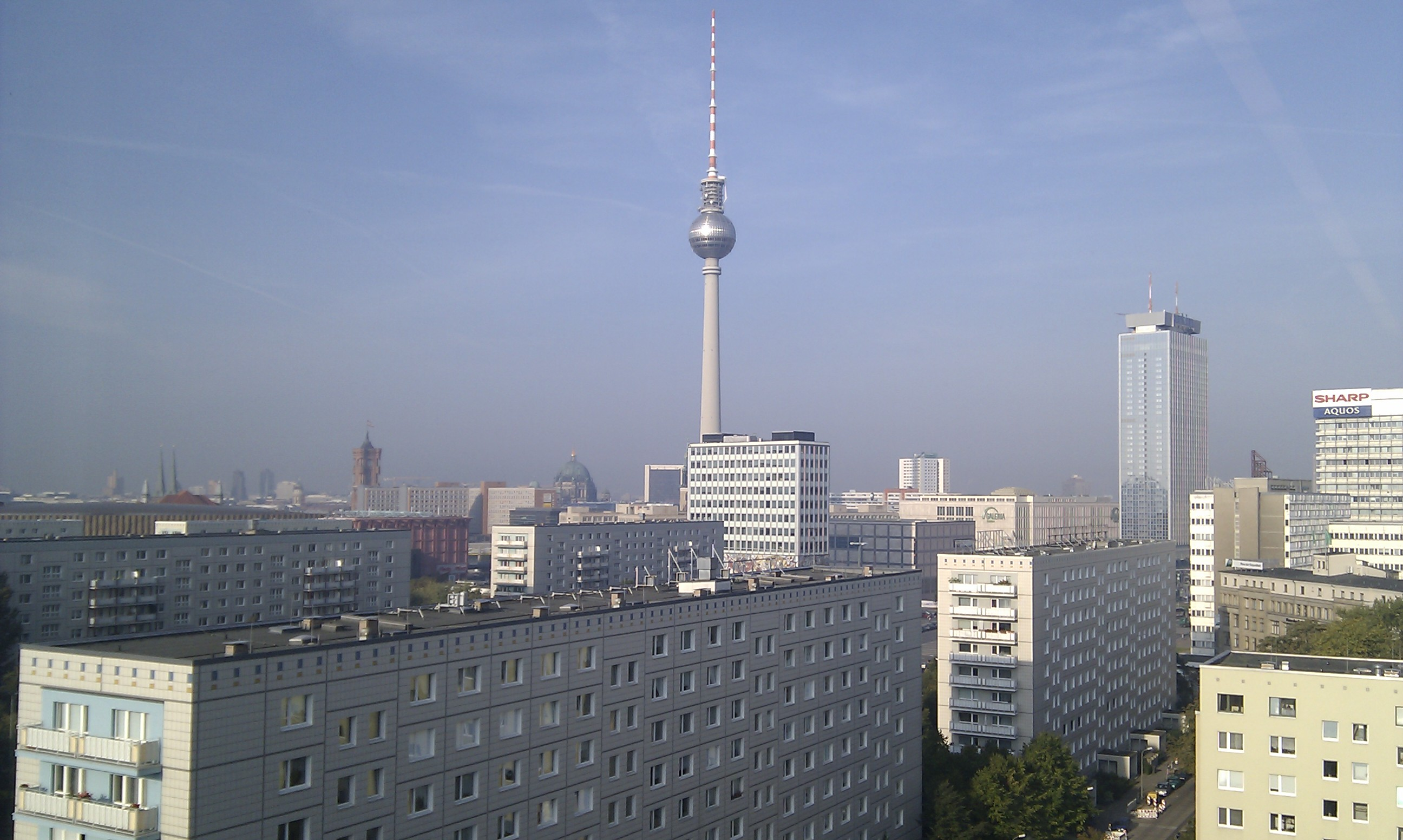 Blick aus dem Fenster gen Alex