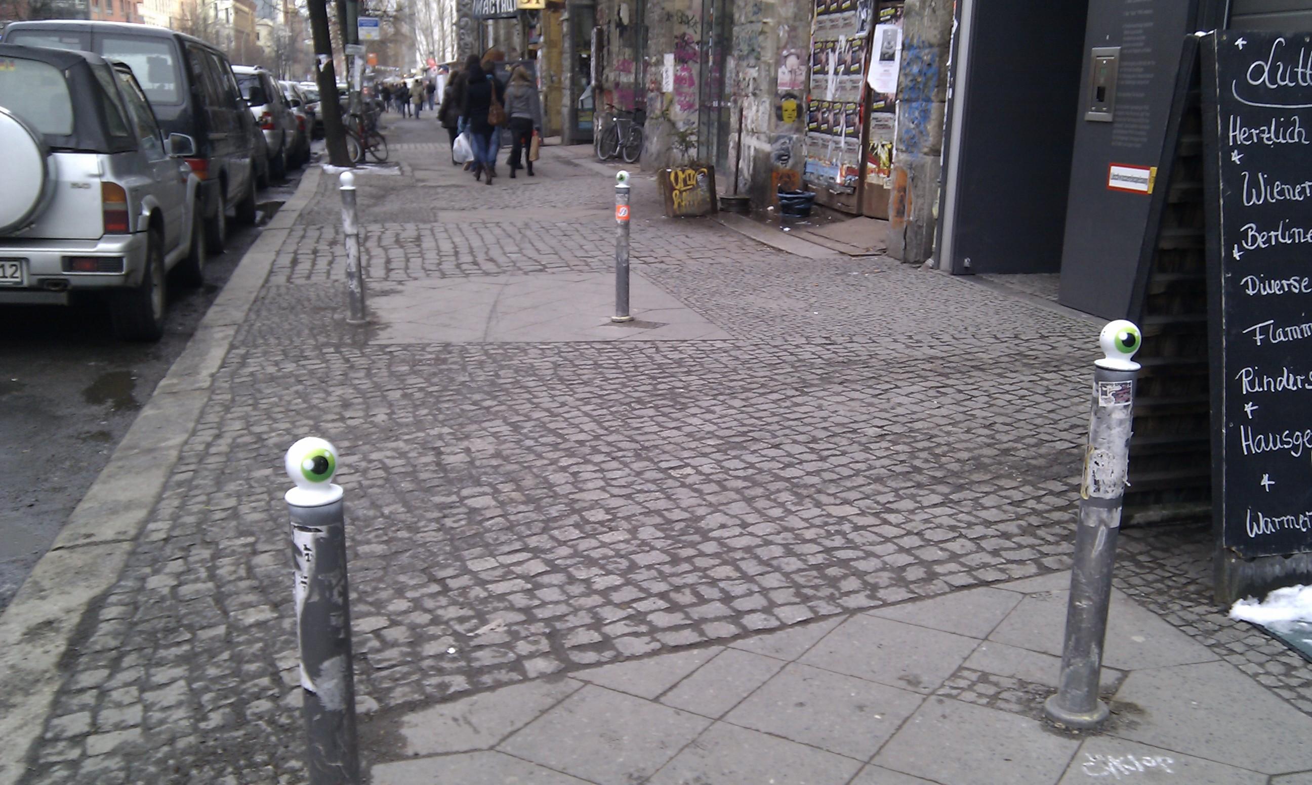 Streetart am Tacheles, Oranienburger Straße