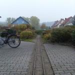 Schienen der Gartenbahn